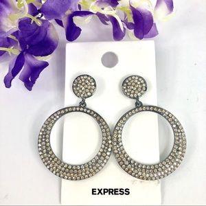 Express Rhinestone Earrings 🌹